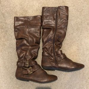 Tall Long Brown Boots Size 8